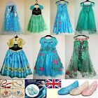 UK Girls Frozen Fever Elsa Anna Princess Cosplay Costume Party Fancy Dress shoes