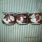 UNIQUE Tea Cups/Mugs Ceramic Hand Crafted & Painted SET of 3 From Japan