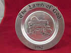 DECORATIVE PEWTER WALL DECOR PLATE; THE LAMB OF GOD, 1982,  Wilton