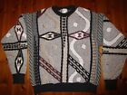 Quality Mens Bill Cosby Geometric Textured Sweater by London Fog Sz L Exc Cond