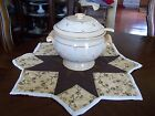 Handmade Quilted Table Centerpiece/Soup Tureen Set