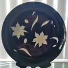 CHODZIEZ PLATTER SERVING PLATE Art Deco Made in Poland LARGE MIDNIGHT LOTUS MINT