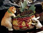 FItz & Floyd  Winter Holiday Santa - Tidbit Dish  NEW