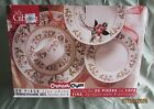 Christmas Charm by Gibson Set 19 pcs Service for 4 Dinner Salad Plate Bowl Cup