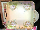 BAVARIA GERMANY PAINTED ROSES TRAY GERMAN TRAY PLATE WHITE ROSES