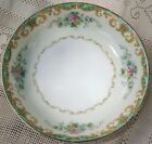 VINTAGE 1930's NORITAKE MORIMURA HAND PAINTED FLORAL SERVING BOWL WITH GOLD TRIM