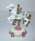 Heritage House Carousel Horse Touch Tone  Music Box Plays Yesterday Country Fair