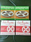 """Lot of 4 Vtg REEL TO REEL 3"""" Magnetic Audio RECORDING TAPES"""