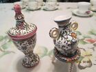 2 Vintage Coimbra Faience Hand Painted Portugal Sec XVII Filcer #36