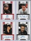 LOT OF 4 2011 Leaf Poker Autographs Numbered WASICKA TRANIELLO BELLANDE FISCHMAN
