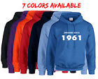 Born in 1961 Hoodie Awesome Since Hoodie Birth Year Happy Birthday Gift 7 COLORS