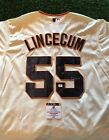 TIM LINCECUM SAN FRANCISCO GIANTS SIGNED White JERSEY GAI COA Inscribed
