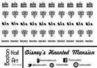 Disney's The Haunted Mansion Waterslide Nail Decal - 50 PC