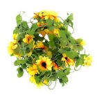 artificial sunflower garland flower vine for home wedding garden decoration WD