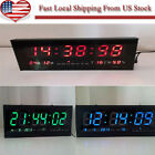 New Digital Large Big Digits LED Wall Desk Clock With Calendar Temperature US