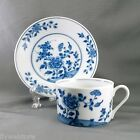 Winterthur Hampton Cup and Saucer White and Blue Porcelain 8 oz