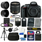 Nikon D5300 Digital SLR Camera + 3 Lens Kit 18 55mm + 32GB Amazing Value Bundle