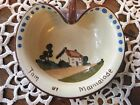 Torquay Motto Ware Jam or Marmalade Handled Dish Whatcombe Cottageware Vintage