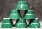 Vintage SET 6 JACKSON Custom CHINA Green Ramekins UNION MADE Restaurant Ware Lot