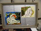 vintage hand painted tiles picasso? vintage hand painted art  tiles