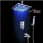 Wall Mounted Bathroom Rain Shower Faucet Set Mixer Valve With Hand Shower 2021