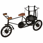 VINTAGE REPRODUCTION METAL SMALL HAND MADE IRON BLACK RICKSHAW FOR CARRIAGE