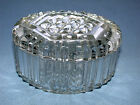 Beautiful Vintage Round Glass Covered Candy Bowl Box ~L@@K~