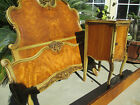 13 pc Antique French VICTORIAN style Carved Satin Wood Bedroom set 1920s