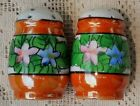 VINTAGE 1950's HAND PAINTED PORCELAIN SALT & PEPPER SHAKERS - MADE IN JAPAN