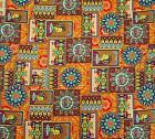 Yellow 100%cotton quilting fabric pictorial print for table cover by the yard