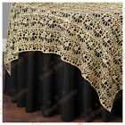 Gold Chemical Lace Table Overlay 54