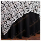 Silver Chemical Lace Table Overlay 54