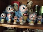 Vintage Lefton Blue Bird Lot- Teapot (Singing), Cookie Jar, Creamer Sugar More