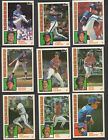 TOPPS RANGERS TIFFANY TEAM SETS WITH TRADED, 1984, 1985, 1986, 1987, 1988