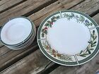 Fairfield Wintergreen FINE CHINA, 1 DINNER PLATE AND 5 SAUCERS