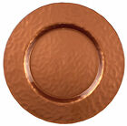 Glass Charger Plate 13 Distressed Copper Set of 2
