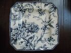 222 FIFTH~ADELAIDE~BLUE WHITE~ SET OF 4 SQUARE SALAD PLATES~NEW~