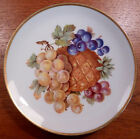 Vintage Mitterteich Germany pineapple fruit plate with gold trim - FREE SHIPPING