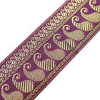 3 Yd Jacquard Ribbon Metallic Thread Paisley Design Sari Border Sewing trim lace