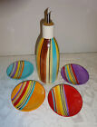 Pfaltzgraff Equator Oil Jar with Drizzle Spout Dip Bowl Dishes Great Condition