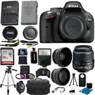 Nikon D5200 Digital SLR Camera + 3 Lens Kit 18 55mm + 16GB Amazing Value Bundle