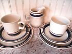 7 Pc Contemporary Chateau Yamaka Stoneware Japan Hand Painted Cups/Saucer/Cream+