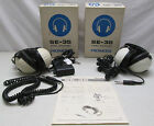 Vintage Set of 2 Pioneer SE-35 Stereo Headphones & RC-55 Dual Earphones Remote