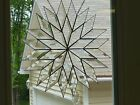 Beautiful 30 Beveled Stained Glass Rainbow Snowflake -Made in USA by Me!
