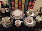 Nice Tognana Dinnerware Tog36 blue flowers & berries 22 pc set svc for 4