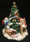 Fitz and Floyd 2003 The Flurries Snowman Holiday Christmas Musical Tree in Box