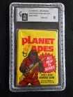 *RARE* 1975 TOPPS PLANET OF THE APES UNOPENED WAX PACK GRADED GAI 8.0