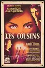 LES COUSINS 1959 beautiful French 16x24 poster Claude Chabrol filmartgallery