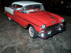 1955 Chevrolet Bel Air Coupe - Red/White - Franklin Mint - MIB