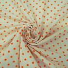 "White Dots Print Fabric 44"" Width Pure Cotton Fabric Table Cover Throw By 1 Yard"